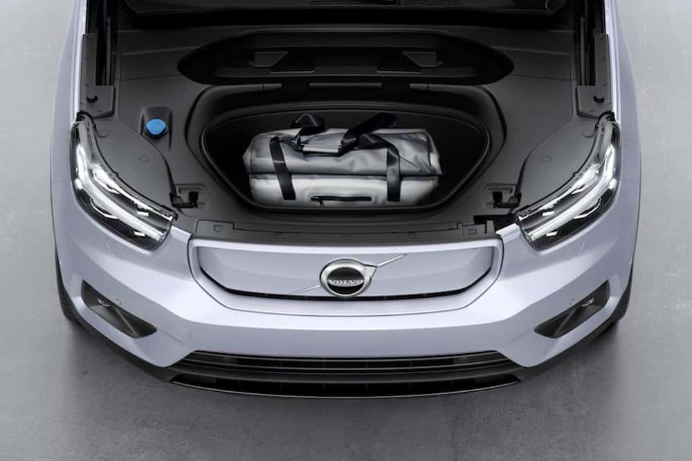 2021 Volvo XC40 Recharge front trunk