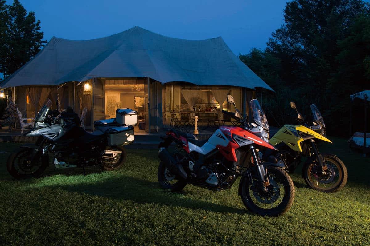 2020 Suzuki V-Strom 1050 camping