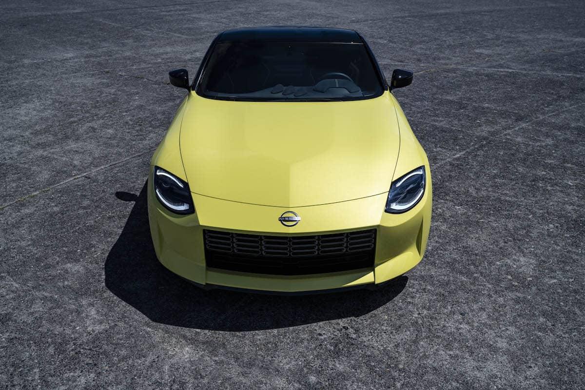 z proto new nissan z car front grille profile