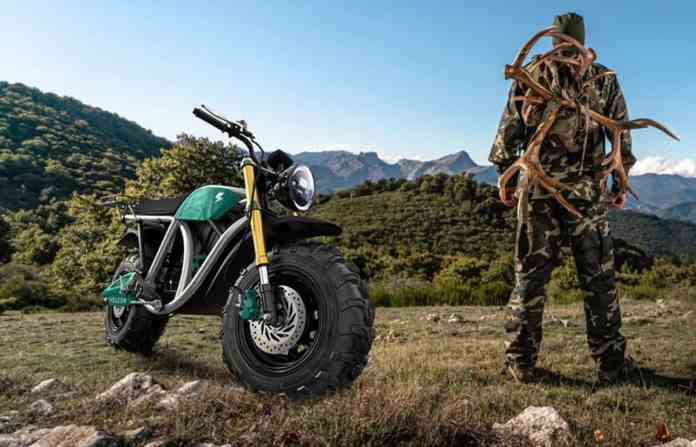 Volcon Grunt all electric off-road motorcycle outdoors