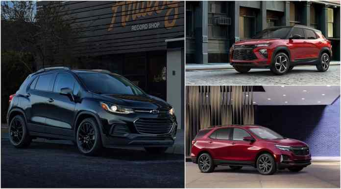 small chevy suv and crossovers