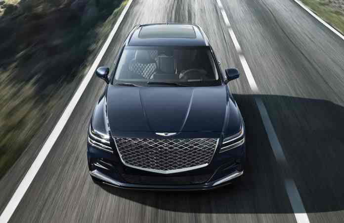 2021 Genesis GV80 front grill and design