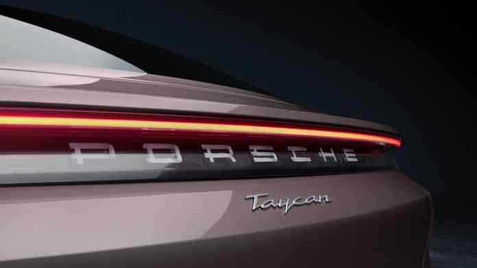 2021 Porsche Taycan rear logo