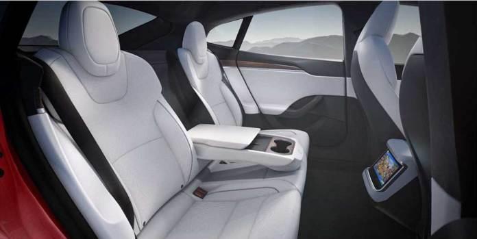 2022 Tesla Model S interior rear seats