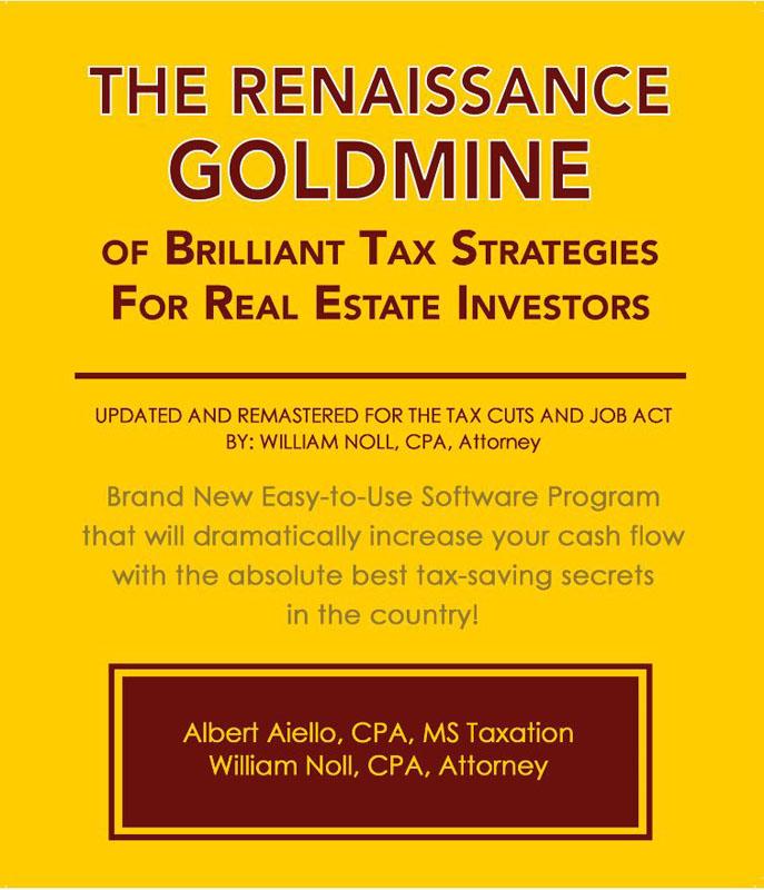 The Renaissance Goldmine of Brilliant Tax Strategies For Real Estate Investors