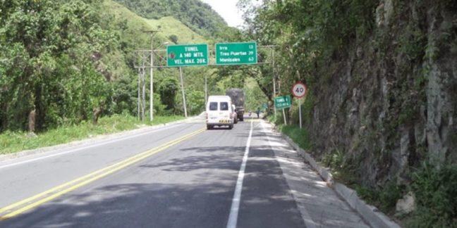 vía Medellin-manizales