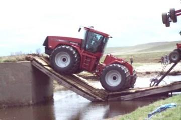 Ce tracteur est trop lourd pour ce pont