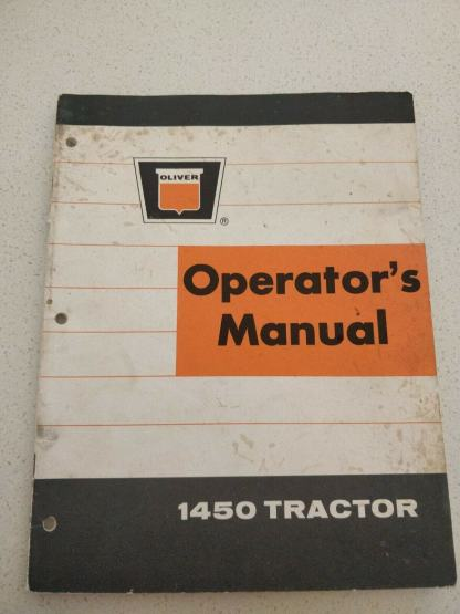 Oliver 1450 Tractor Operator's Manual