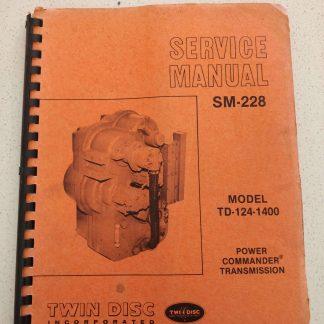 Twin Disc SM-228 Model TD-124-1400 Power Commander Transmission Service Manual