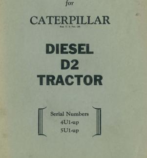 Caterpillar D2 4U-5U OPERATIONS