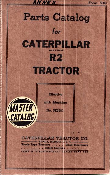 Caterpillar R2 5E3501 Parts Catalog