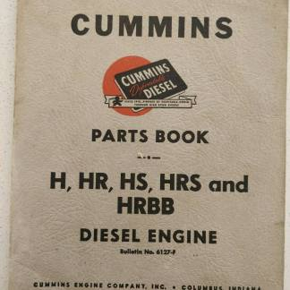 CUMMINS H/HR/HS/HRS/HRBB DIESEL ENGINE PARTS MANUAL BOOK CATALOG