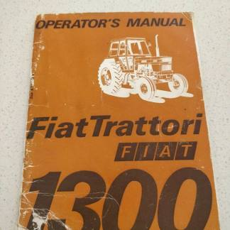 FiatTrattori tractor 1300 operator's manual
