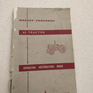 massey ferguson 65 tractor operator instruction book