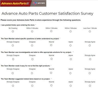 Advance Auto Parts Customer