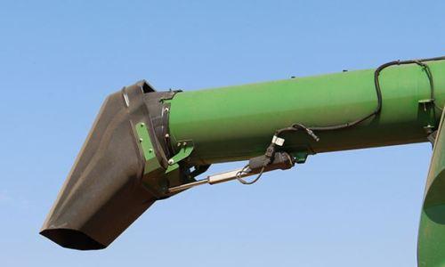 john deere x9 combine unloading auger
