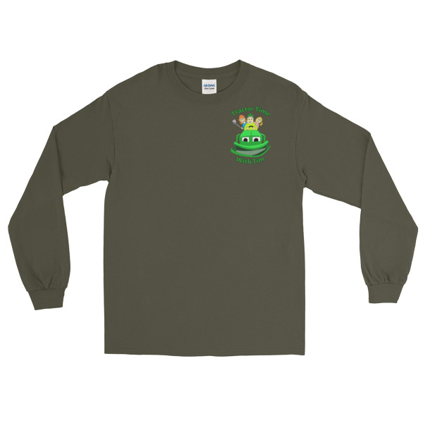 TTWT Small Lettered Logo Long Sleeve Gildan T-Shirt (up to 5XL)