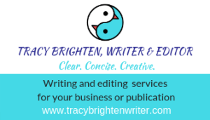 Writing & editing services business card