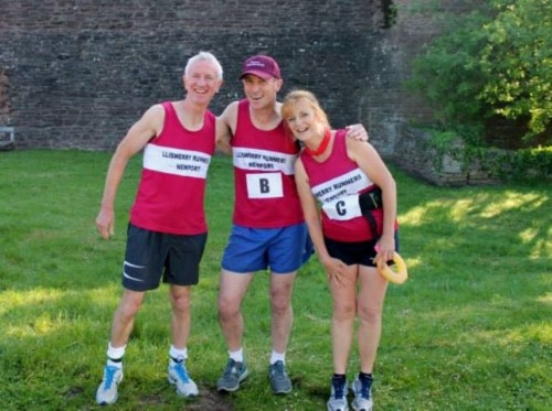 Chris, Nick and me. Smiling, but we haven't seen those hills yet