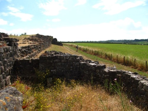 In places the Roman walls are five metres high