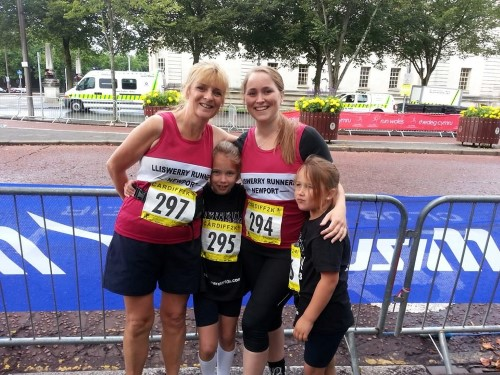 Enjoying the Cardiff 2k with my daughter and grand-daughters