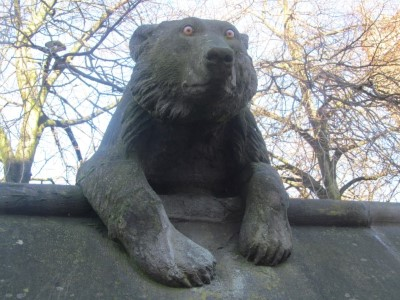 One of the Animal Wall's bears