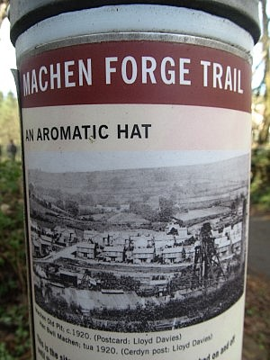 One of the distinctive Machen Forge Trail information posts