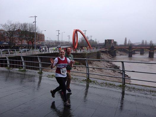 Running alongside the River Usk