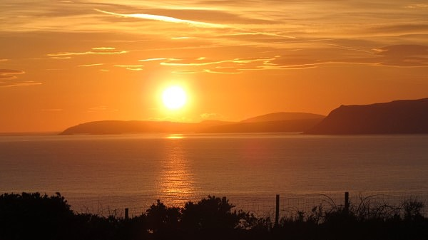 The sunset in Llŷn