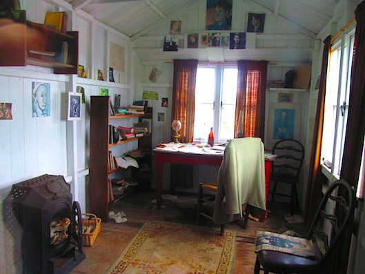 The writing shed has been restored