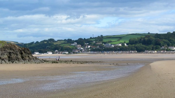 The estuary at Llansteffan on a nicer day