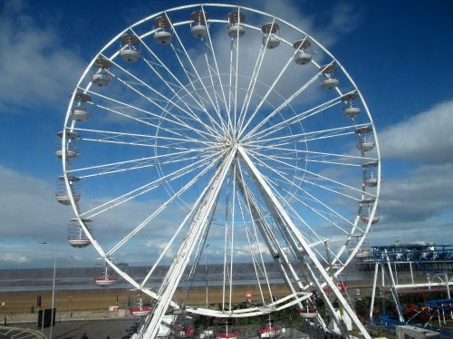 Weston's Big Wheel, taken from our hotel room window