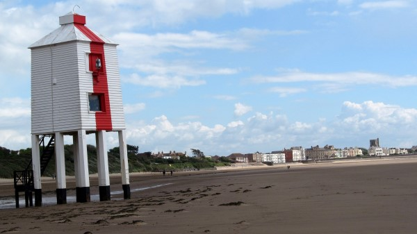 The wooden lighthouse at Burnham-on-Sea