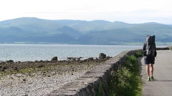 Heading west towards Beaumaris on the Anglesey Coast Path