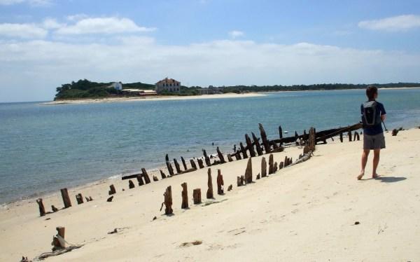 A riverside beach on the Troia peninsula