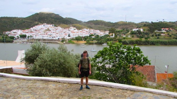 Borderland - Harri next to the Rio Guadiana