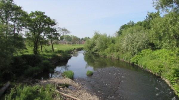Crossing the Ebbw in Newport
