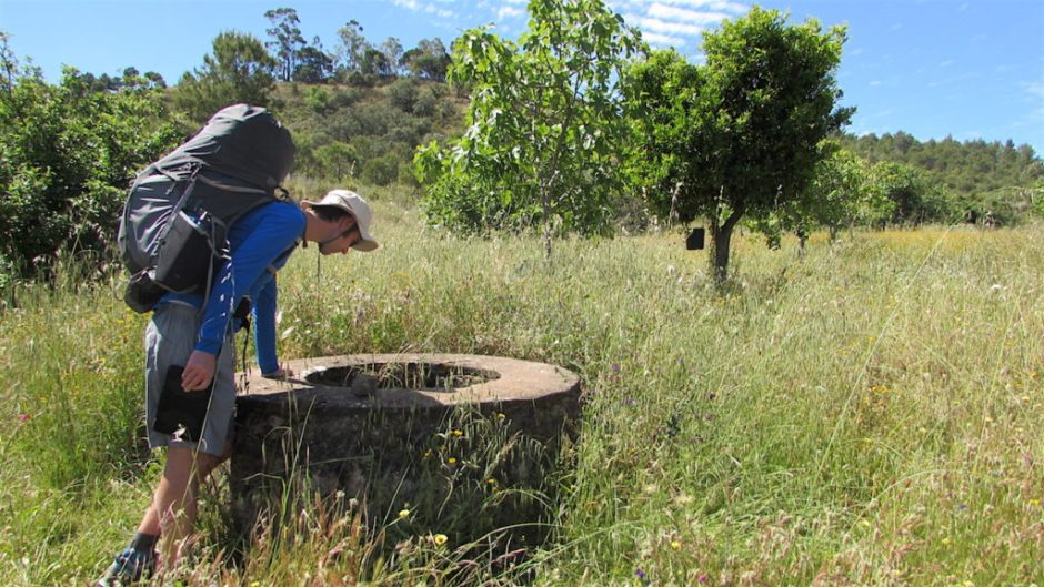 One of the abandoned wells we passed