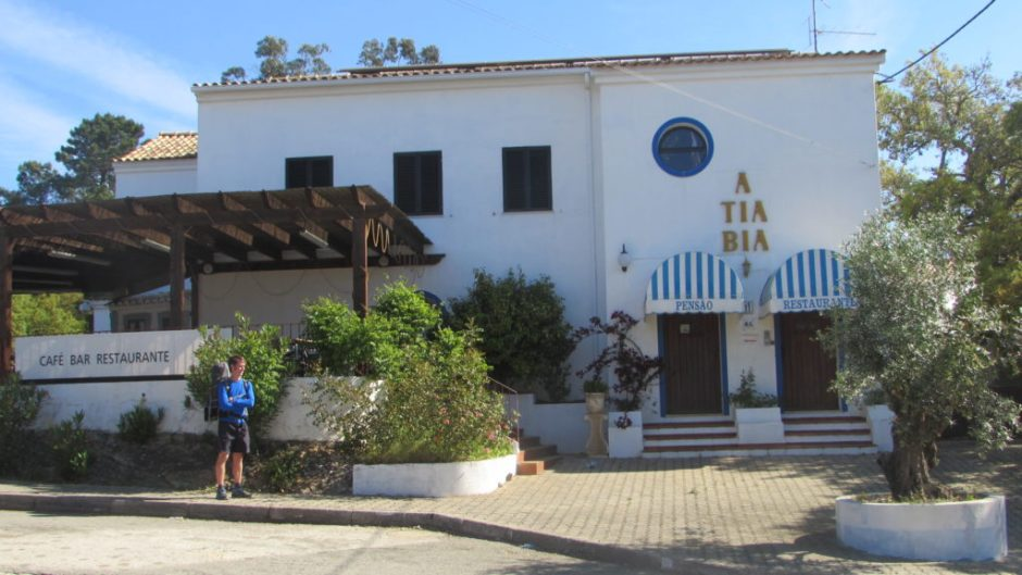 A Tia Bia in Barranco do Velho - not the place for dieters