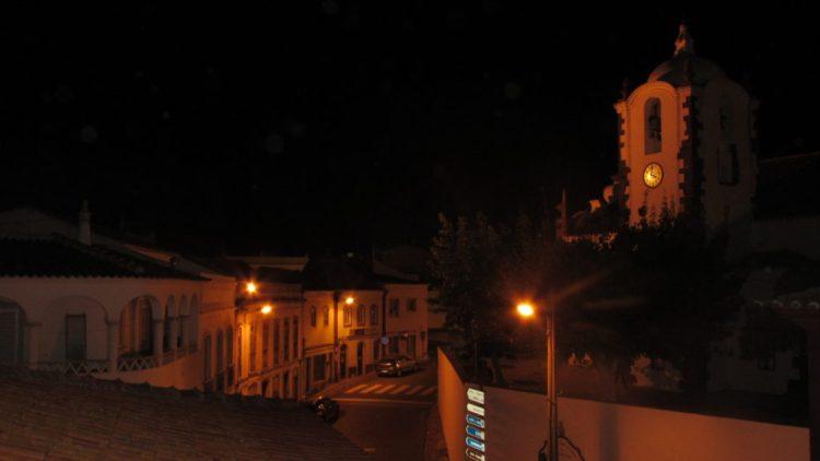 Messines at night