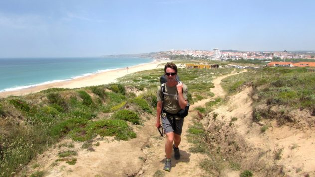Outdoor writer Harri Garrod Roberts walking the Silver Coast, Portugal