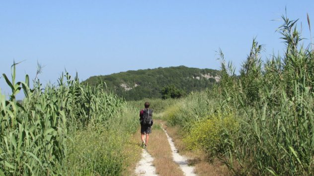Harri Garrod Roberts follows a footpath from the walled medieval city of Obidos back to the Obidos lagoon on Portugal's Silver Coast