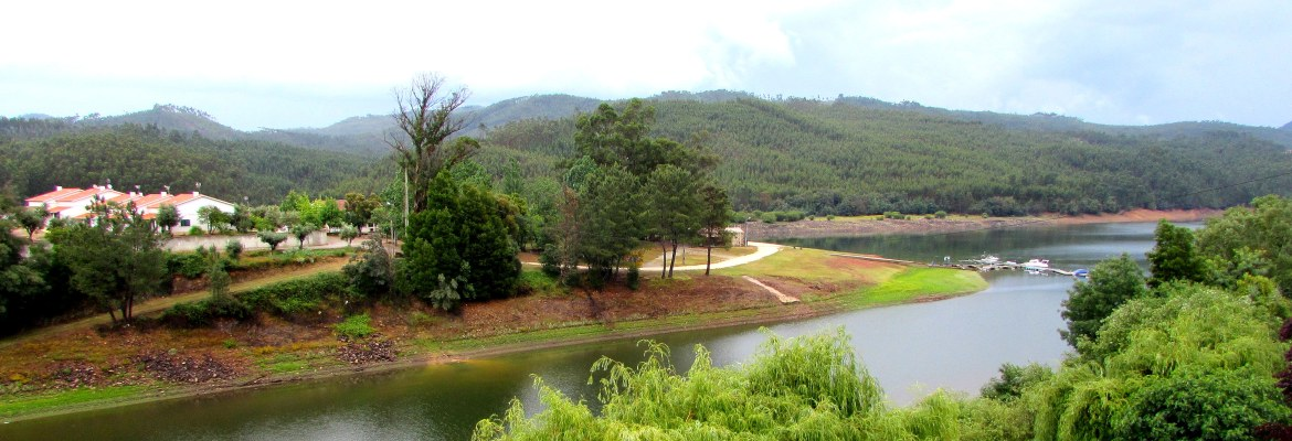 Looking out from our room at Solar do Zezere, Foz de Alge, on the Zêzere river, Central Portugal
