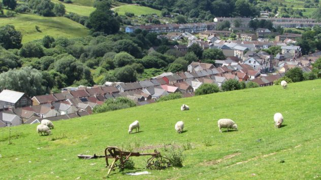 Abertridwr and Senghenydd, mining villages, Rhymney Valley, Caerphilly, South East Wales