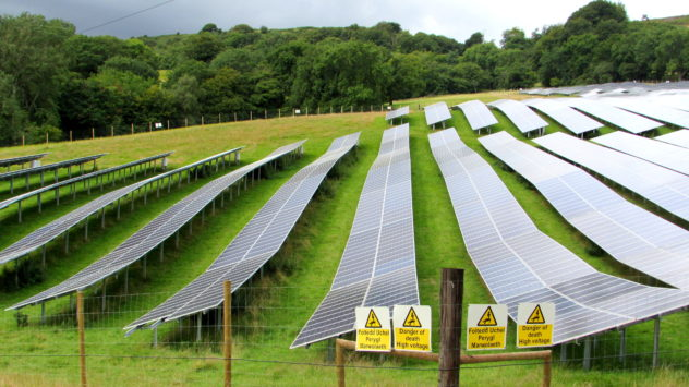Solar farm at Cwrt Henllys Farm, Henllys, Cwmbran, Torfaen