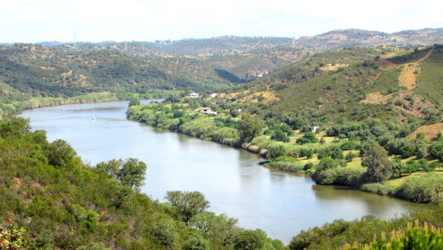 Guadiana river, Portugal-Spain border, Algarve