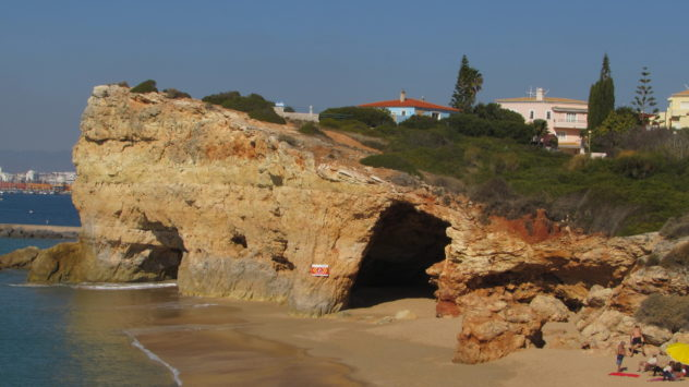 Caves near Ferragudo, Algarve, Portugal