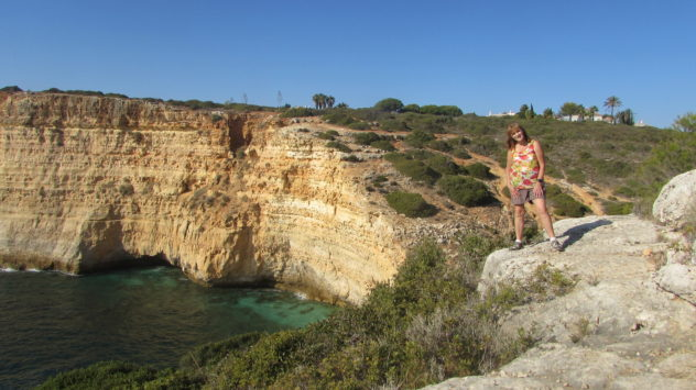 Sandstone cliffs, cliff erosion, Algarve, Portugal