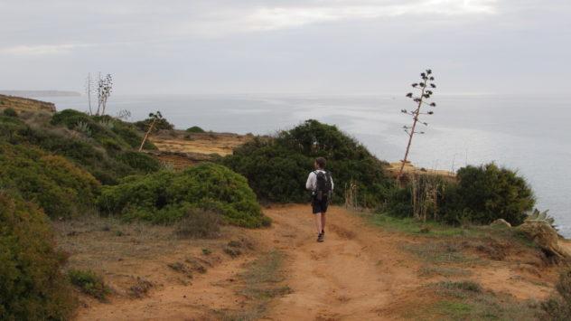 Coast path, Burgau, Western Algarve, Portugal