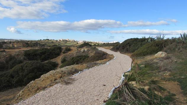 New footpaths, Praia da Piedade, Lagos, Western Algarve, Portuga